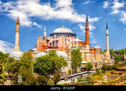 Hagia Sophia,  former Greek Orthodox patriarchal basilica (church), later an imperial mosque, and now a museum in Istanbul, Turkey - Stock Photo