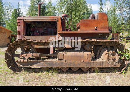 International Crawler tractor with continuous track - Stock Photo