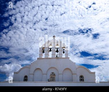 Roof of Orthodox Cathedral on Naxos Island, Greece - Stock Photo