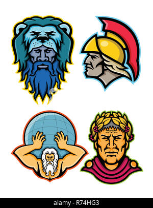 Roman and Greek Heroes Mascot Collection - Stock Photo