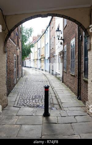 Historic Prince Street, Kingston upon Hull, East Riding of Yorkshire, England, United Kingdom - Stock Photo