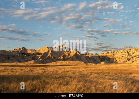 Badlands National Park, Ridges near Cedar Pass Lodge. October, S. Dakota, USA, by Dominique Braud/Dembinsky Photo Assoc - Stock Photo