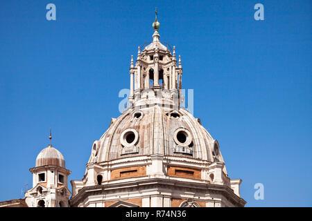 Ulpia Basilica. Rome, Italy. Trajan's forum, center of Rome Stock Photo
