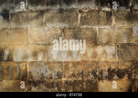 wall old cement brick /  stain dirty wall texture background - Stock Photo