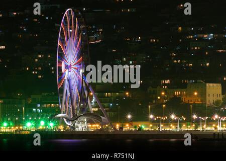 Ferris wheel on the boulevard in Baku - Stock Photo