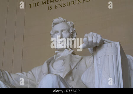 Lincoln Memorial, reminding that all people should be free. - Stock Photo
