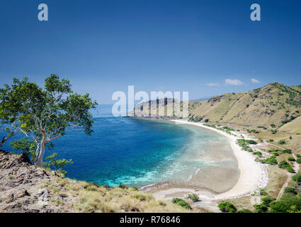 coast and beach view near dili in east timor leste - Stock Photo