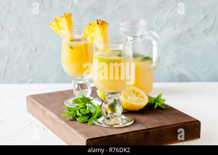 Refreshing Pineapple Juice - Stock Photo