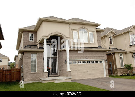 Single beautiful big new house - Stock Photo