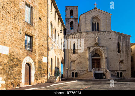 Cathedral Notre-Dame du Puy, Grasse, Département Alpes-Maritimes, Provence-Alpes-Côte d'Azur, France - Stock Photo