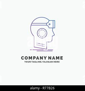 business logo template for vr googles headset reality virtual