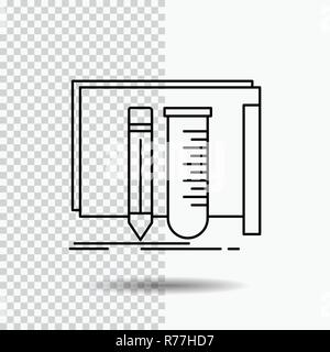 build, equipment, fab, lab, tools Line Icon on Transparent Background. Black Icon Vector Illustration - Stock Photo