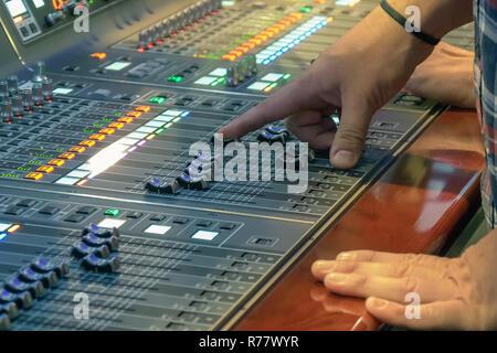 Sound control panel profeshional - Stock Photo