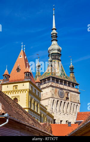 Clock Tower, Sighisoara old town, Transylvania, Romania
