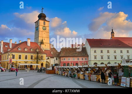 Sibiu old town, Transylvania, Romania - Stock Photo