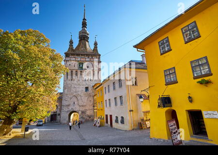 Clock Tower, Sighisoara old town, Transylvania, Romania, UNESCO