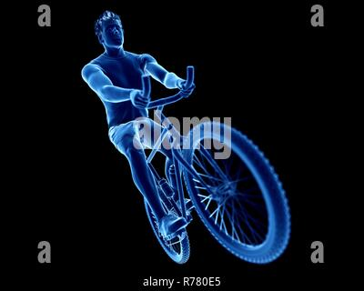 3d rendered illustration of a cyclist. - Stock Photo