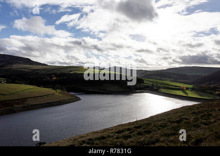 Kinder Reservoir, Cheshire, England. - Stock Photo