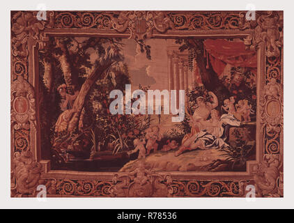 Carlo and Ubaldo find Rinaldo in Armida's garden - Stock Photo