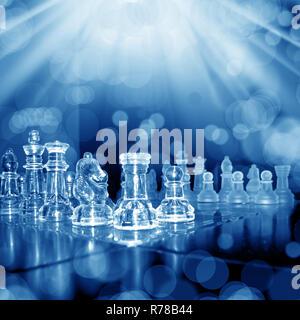 glass chess board - Stock Photo