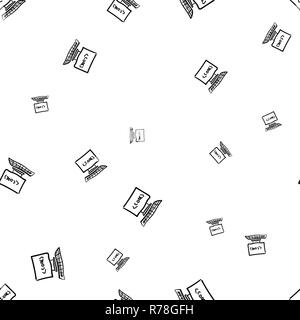 Seamless pattern for concept design. Code icon. - Stock Photo