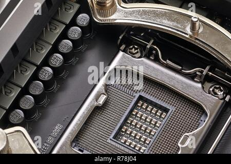 Motherboard detail of a computer - Stock Photo
