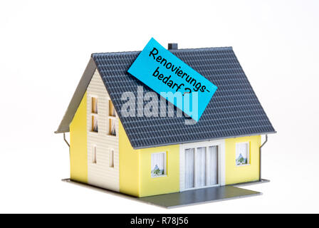 Symbol for real estate renovation due in German - Stock Photo