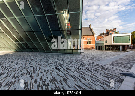 Theatre Le Manege, theatre in new and old buildings, central venue for the European Capital of Culture 2015, Mons, Hainaut - Stock Photo