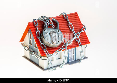 Home, model-home, intrusion protection, theft protection, security, privately owned home, symbolic - Stock Photo