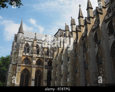 Westminster Abbey church in London - Stock Photo