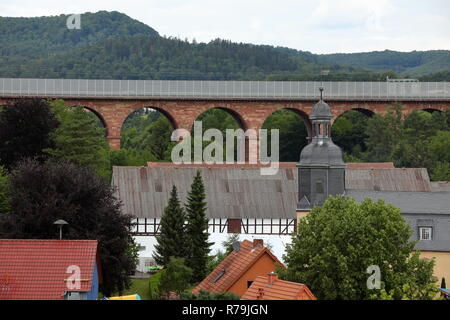 the village center of wommen in northern hesse - Stock Photo