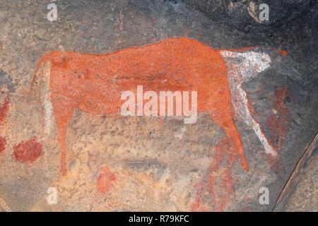 Bushmen rock painting - Stock Photo