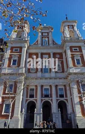 MADRID, SPAIN - JANUARY 21, 2018:  Catholic church in City of Madrid, Spain - Stock Photo