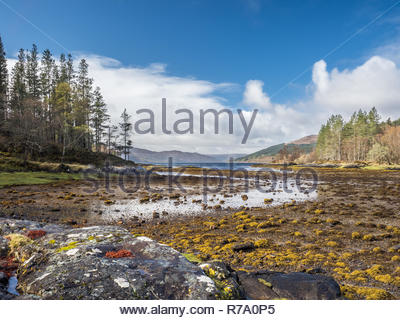 Sàilean nan Cuileag, 'The Bay of the Flies', near Salen, Ardnamurchan, Scotland. - Stock Photo
