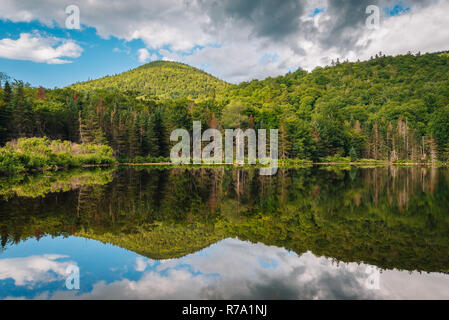 Saco Lake, at Crawford Notch State Park, in the White Mountains, New Hampshire - Stock Photo