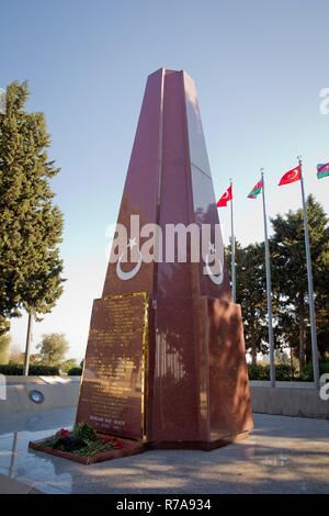 Memorial in Baku to the Ottoman soldiers who were killed in combat. - Stock Photo