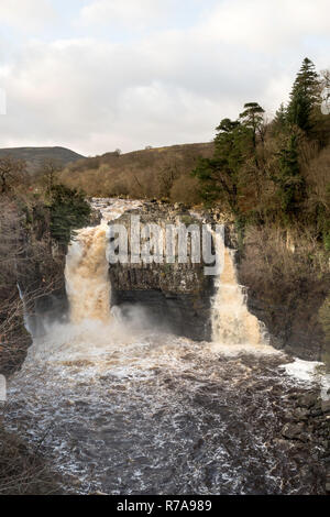 High Force waterfall, river Tees, Co. Durham, England, UK - Stock Photo