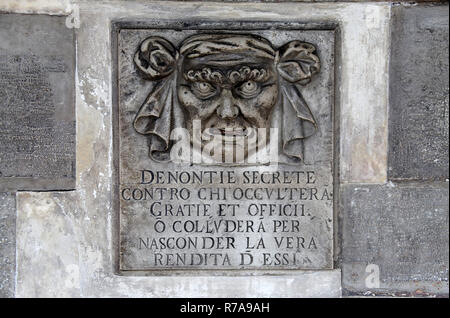 Denontie Secrete at the Doges Palace in Venice - Stock Photo