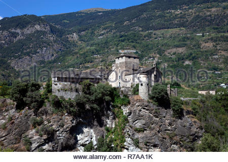 Castle of Sarriod de la Tour a Saint-Pierre - Stock Photo
