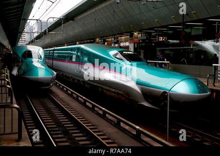 Tokyo JAPAN. The E5 Series Shinkansen bullet train. - Stock Photo