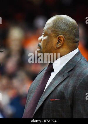 Syracuse, NY, USA. 8th Dec, 2018. Georgetown Hoyas head coach Patrick Ewing during the second half of action as the Syracuse Orange defeated the Georgetown Hoyas 72-71 at the Carrier Dome in Syracuse, NY. Photo by Alan Schwartz/Cal Sport Media/Alamy Live News - Stock Photo