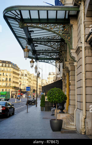 PARIS, FRANCE - MAY 26, 2018: city streets and historic buildings, day walk - Stock Photo