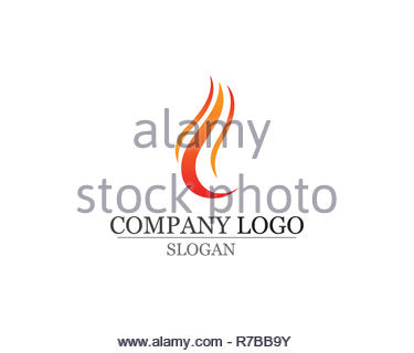 Fire flame nature logo and symbols icons template - Stock Photo