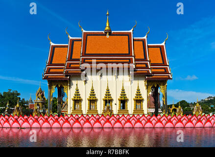 Suwannaram Temple, Wat Plai Laem, Koh Samui, Thailand - Stock Photo