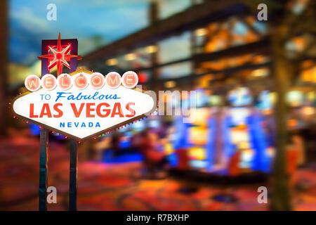 Famous Las Vegas sign - Stock Photo