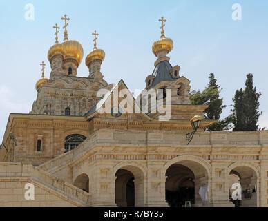 Mary Magdalene church Israel - Stock Photo