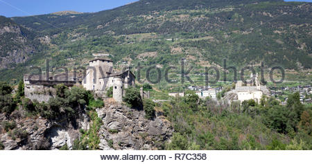 The two castels in Saint Pierre village - Stock Photo