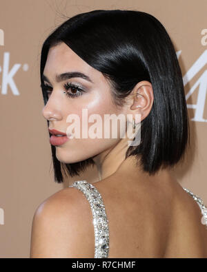 WEST HOLLYWOOD, LOS ANGELES, CA, USA - DECEMBER 01: Singer Dua Lipa arrives at the 2nd Annual Variety Hitmakers Brunch held at the Sunset Tower Hotel on December 1, 2018 in West Hollywood, Los Angeles, California, United States. (Photo by Xavier Collin/Image Press Agency) - Stock Photo
