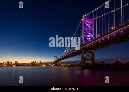 Ben Franklin Bridge near Philadelphia, USA Stock Photo