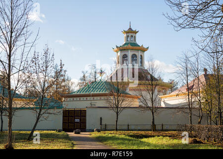 Chinese village in Alexander Park on a sunny late autumn day, Tsarskoye Selo, St. Petersburg, Russia - Stock Photo